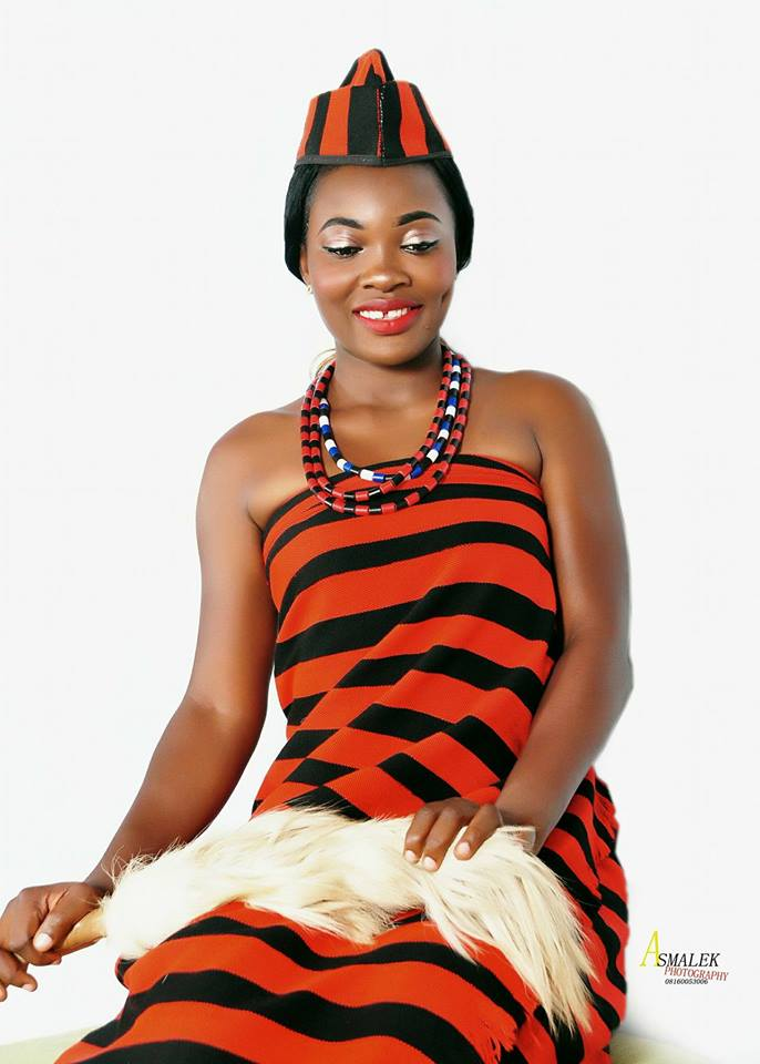 agnes in idoma traditional bride attire